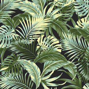 Jungle Floral - Charcoal
