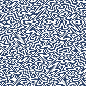 butterfly swirl - navy and white
