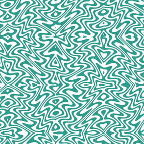butterfly swirl in teal green