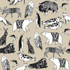 winter animals // arctic antarctica animals polar bears winter animals nursery baby