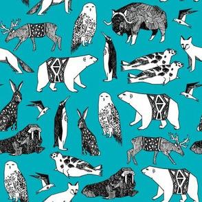 arctic animals // winter fabric tundra animals winter antarctic arctic fa