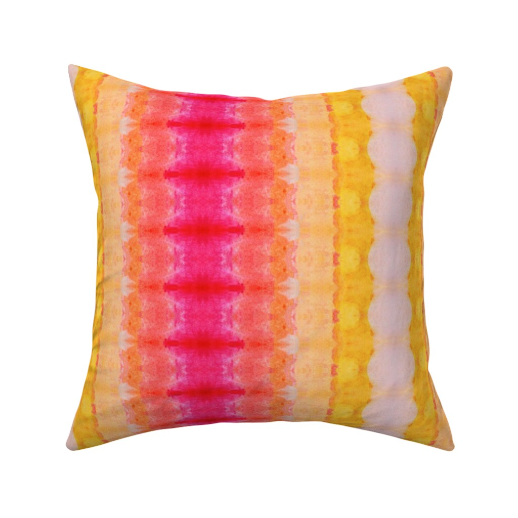 Catalan Throw Pillow featuring RIBBON STRIPE FIVE by shi_designs