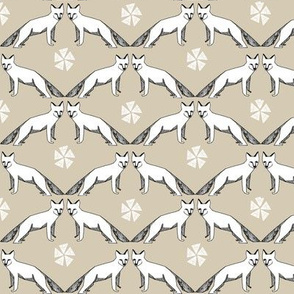 arctic fox //  khaki fox design arctic fox design andrea lauren nursery fabric