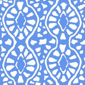 Cornflower Blue Trellis