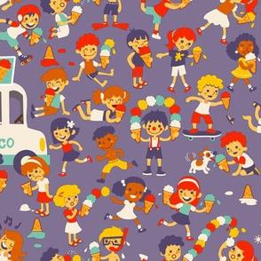 Ice cream kids! (Please zoom in - 35 kids) :D