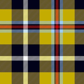 "Cornish National Tartan. 6"" cooler yellow"
