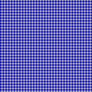 """1/8"""" cobalt and silver gingham"""