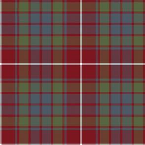 """Fraser red gathering  tartan, 10"""" weathered"""