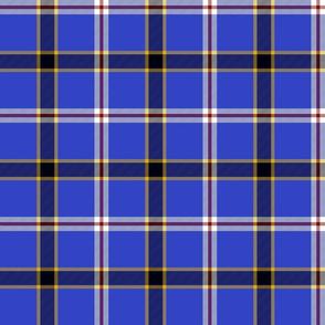 Oklahoma unofficial state tartan - royal blue