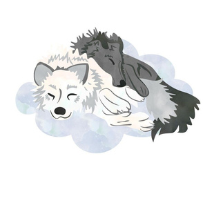 Sleeping Wolves Fat Quarter