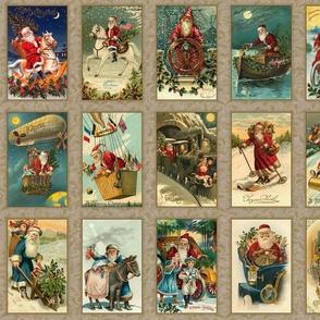 Vintage Santas Panel-B