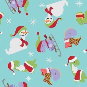 Christmas Dinosaur Santas
