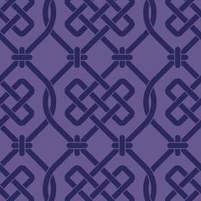 Purple Celtic Knot Lattice