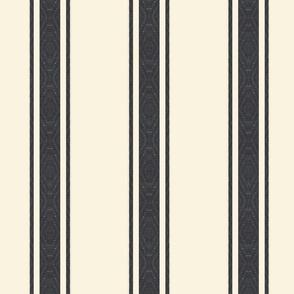 Modern French Ticking Stripe-Farmhouse Off white Black