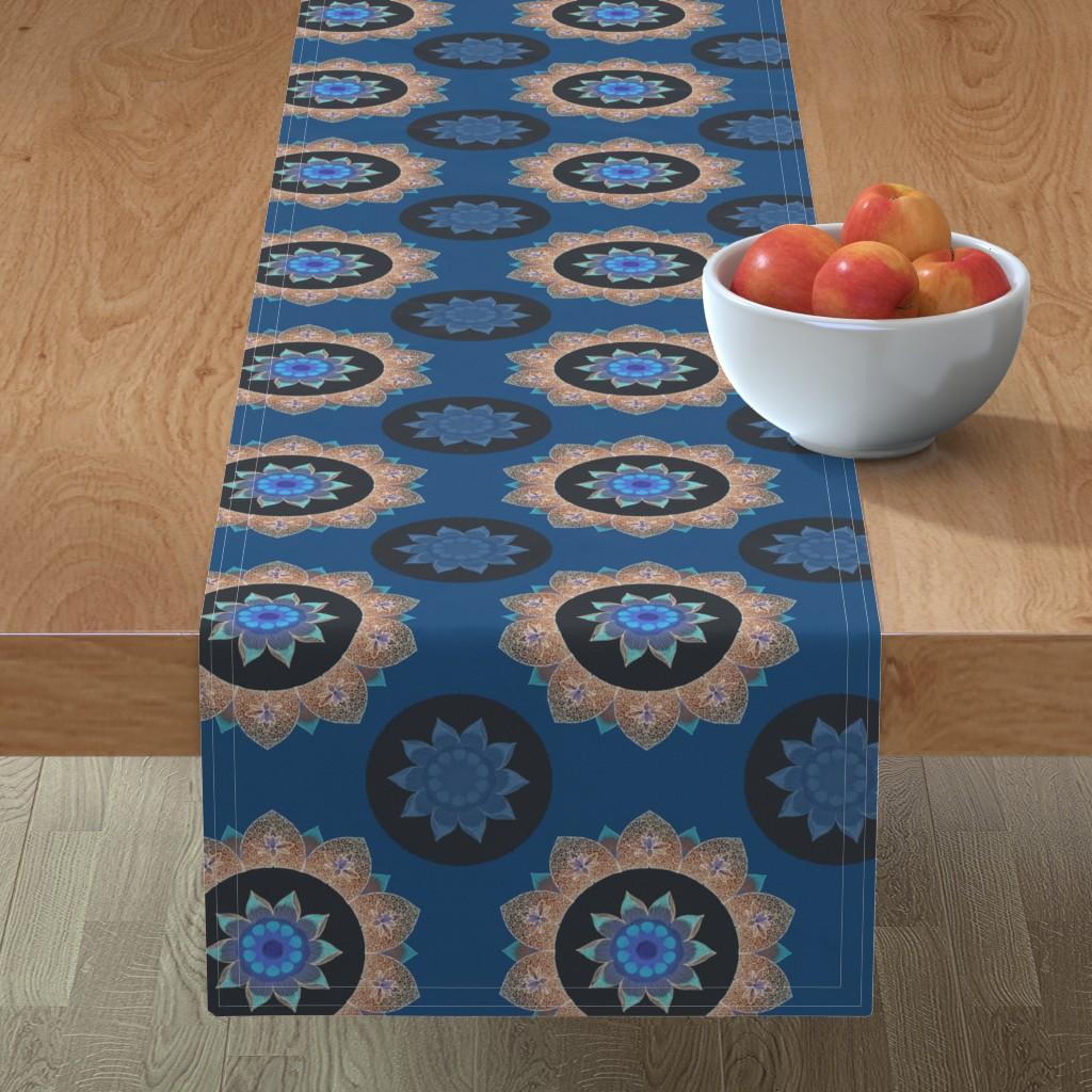Minorca Table Runner featuring Night lotus by keweenawchris