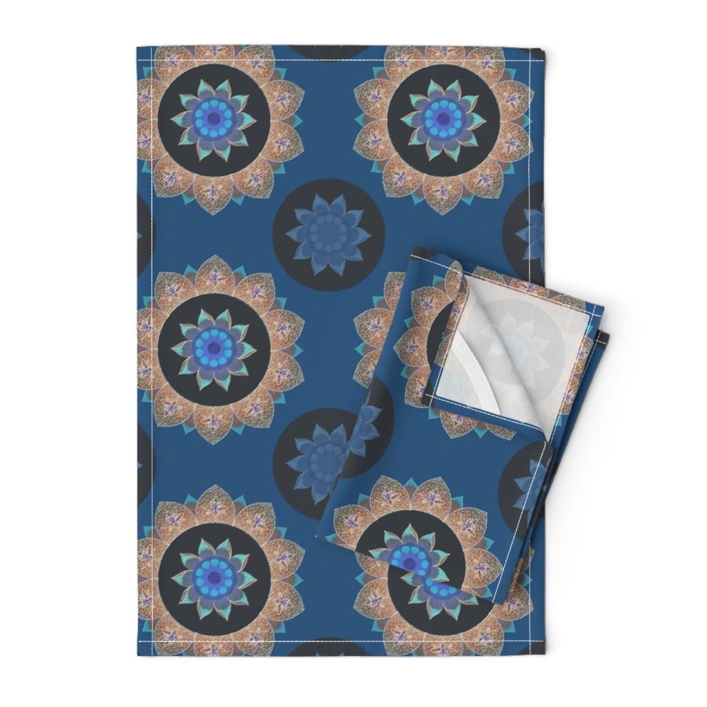 Orpington Tea Towels featuring Night lotus by keweenawchris