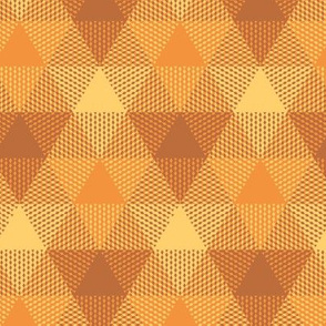 triangle gingham - copper, gold, brass