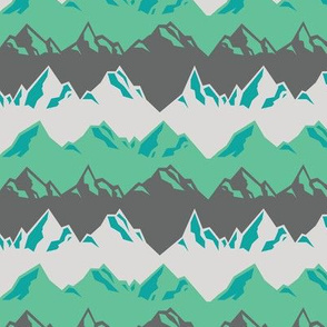 Alps in Teal