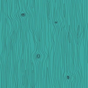 Wood Grain in Teal