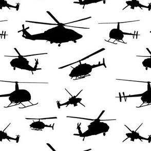 Helicopter Silhouettes // Small