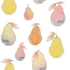 Pastel Watercolor Pears