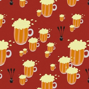 beer and broomsticks - large - painting effect - potter's world