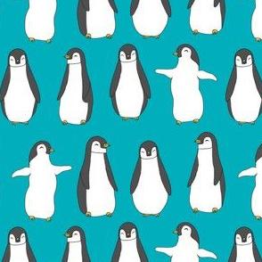 penguins // baby animals pingu penguin design winter penguins fabric