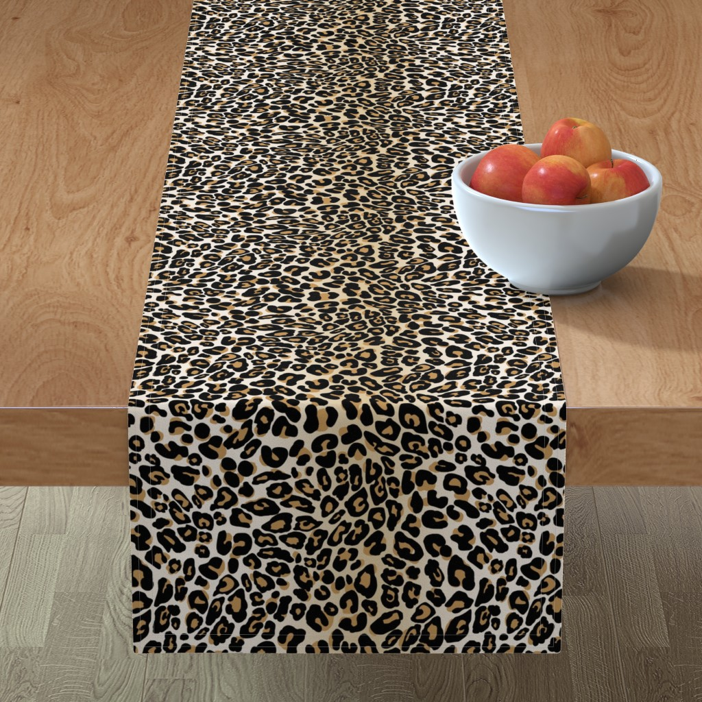 Minorca Table Runner featuring classic leopard by cinneworthington
