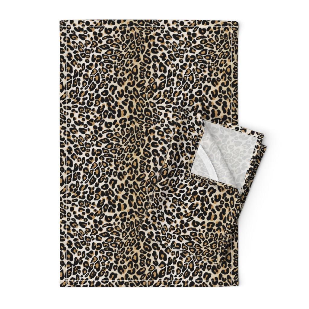 Orpington Tea Towels featuring classic leopard by cinneworthington
