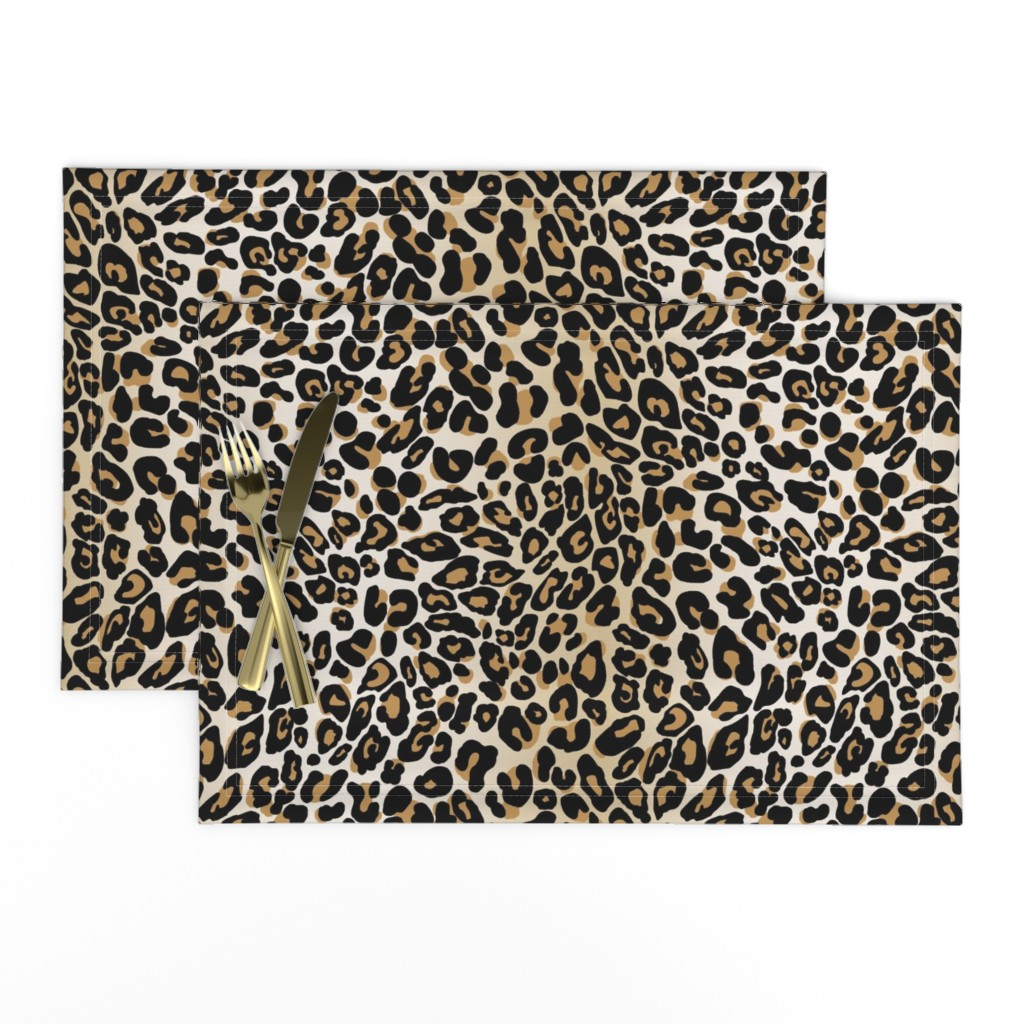 Lamona Cloth Placemats featuring classic leopard by cinneworthington
