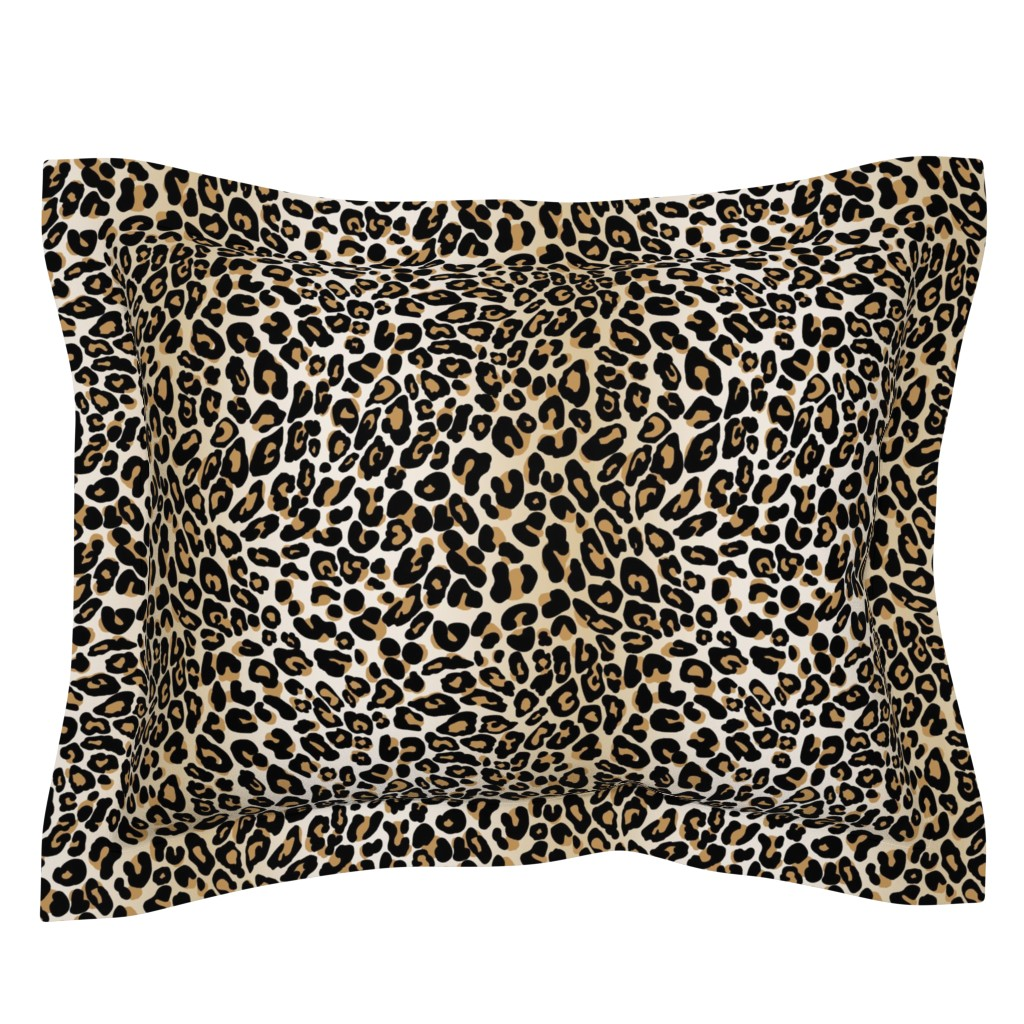 Sebright Pillow Sham featuring classic leopard by cinneworthington