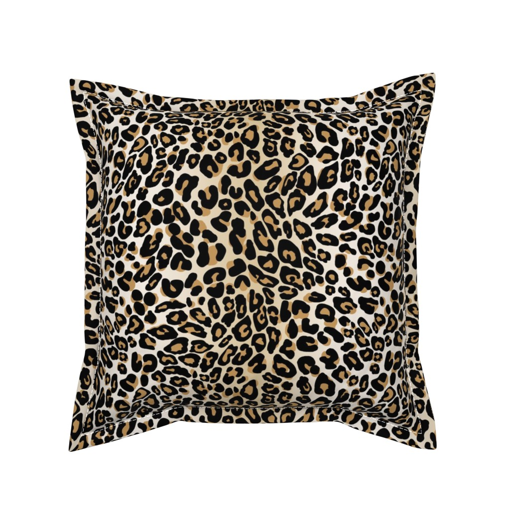 Serama Throw Pillow featuring classic leopard by cinneworthington