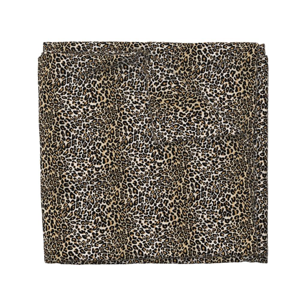 Wyandotte Duvet Cover featuring classic leopard by cinneworthington