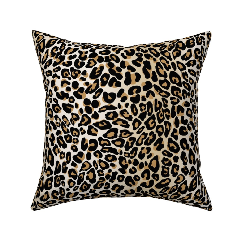 Catalan Throw Pillow featuring classic leopard by cinneworthington