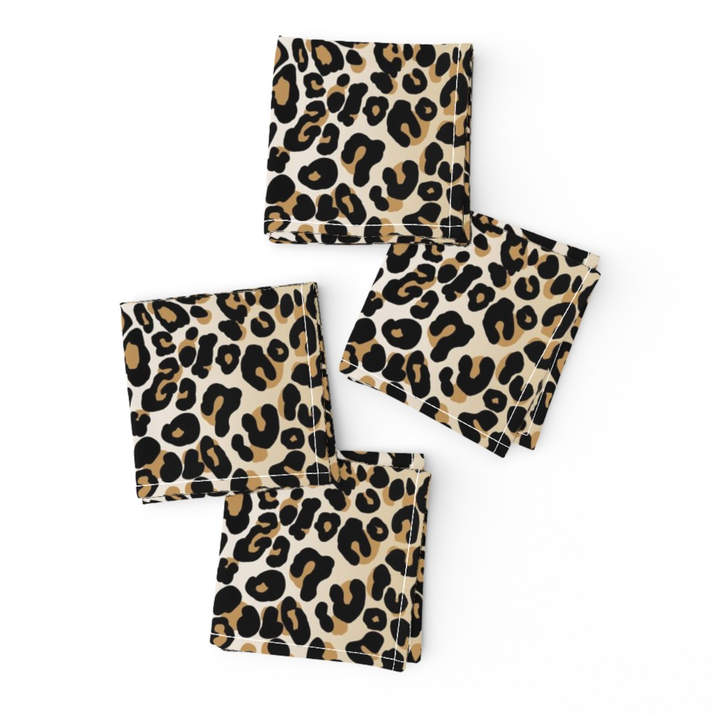 Frizzle Cocktail Napkins featuring classic leopard by cinneworthington