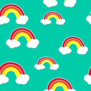 Happy Rainbow in the Sky