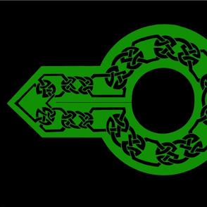 celtic collar 1 black on green