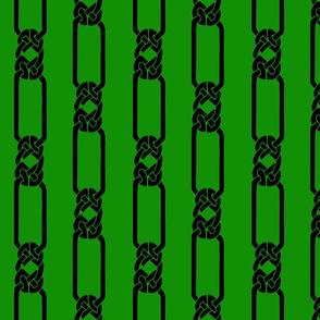 open border-1 black on green