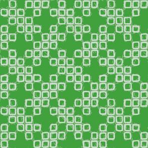 Faux-Shibori Basketweave - Green