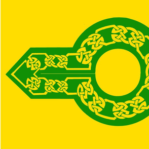 celtic collar 1 gold on green