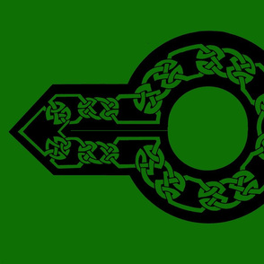 celtic collar 1 green on black
