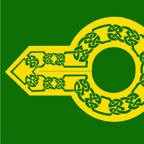 celt collar 1 green on gold
