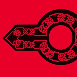 celtic collar 1 red on black
