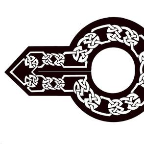 celtic collar 1 white on black