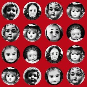 Little Doll Face on Scarlet