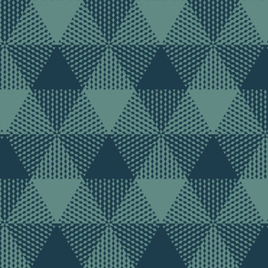 large triangle plaid - slate and navy