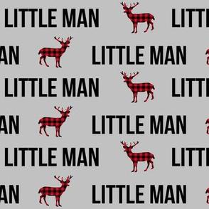little man baby boy print plaid deer buck fabric nursery baby boy winter design
