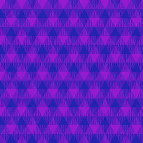 triangular purple gingham