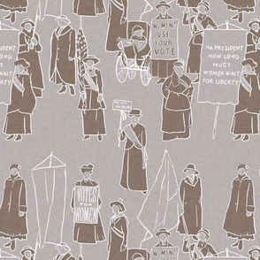 Suffragettes on Sepia