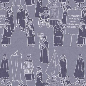 Suffragettes on Purple